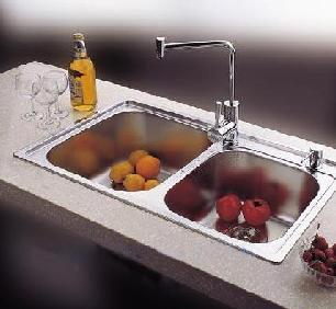 美柯不锈钢XS225水槽+XG50+皂液器送沥水篮下水角阀软管
